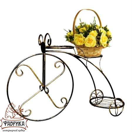 Подставка для цветов велосипед 71-053
