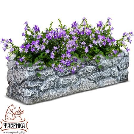 Садовый декор из полистоуна Кашпо камень