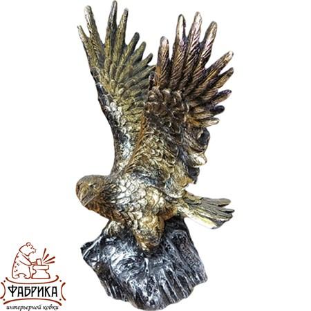 Садовая фигура из полистоуна Орёл на Камне F01240