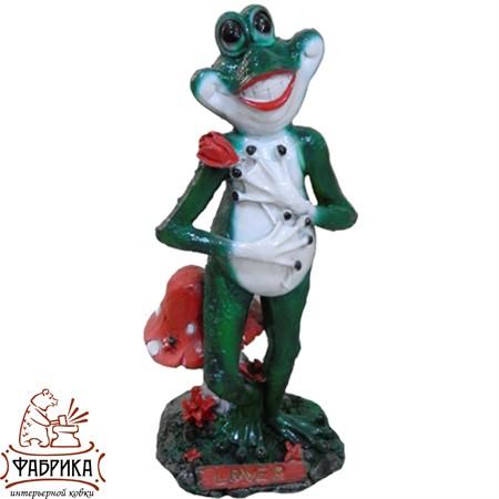 Садовая фигура из полистоуна Лягушка Влюбленная F01283