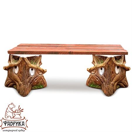 Садовая мебель из полистоуна Скамейка F07026 (F07183+F07183)