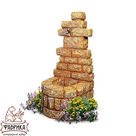 Садовый декор из полистоуна Умывальник Песчаник  U07568