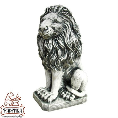 Садовый декор из полистоуна Лев сидящий F01079
