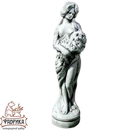 Садовый декор из полистоуна Девушка с Цветами F03003-B