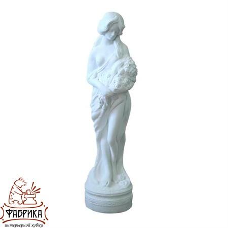 Садовый декор из полистоуна фигура Девушка с Цветами F03003-WM