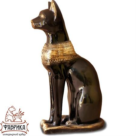 Садовый декор из полистоуна фигура Кошка Египет большая F01172-B