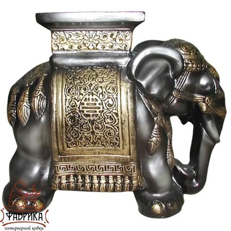 Садовая фигура из полистоуна фигура Слон малый F01171