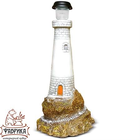 Садовая фигура из полистоуна светильник Маяк F07125