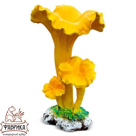 Садовый декор из полистоуна грибы Лисички F07193