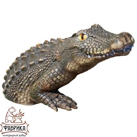 Садовый декор из полистоуна Крокодил U07662