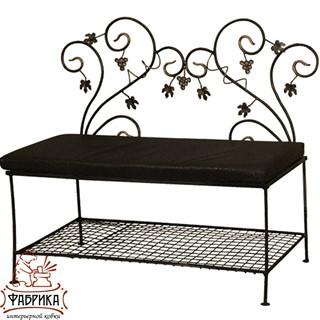 Кованая мебель для дома Банкетка с нишей 850-31