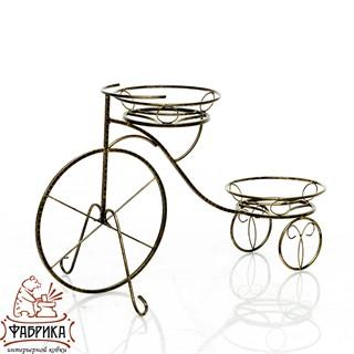 Подставка велосипед на 2 цветка