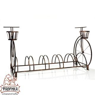 Велосипедная стоянка кованая