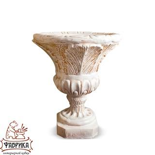 Садовый декор из полистоуна Чаша Лилия с шаром U07925-WP