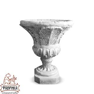 Садовый декор из полистоуна Чаша лилия с шаром U07925-ВТ