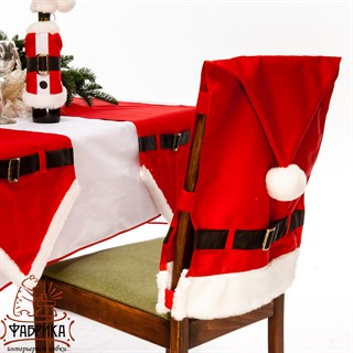 Чехол для стула новогодний