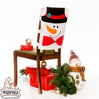 Чехол для стула Снеговик