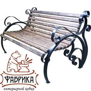 Кованая дачная скамейка