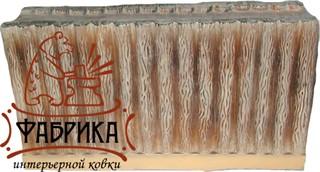 Стена короткая деревянная для песочницы