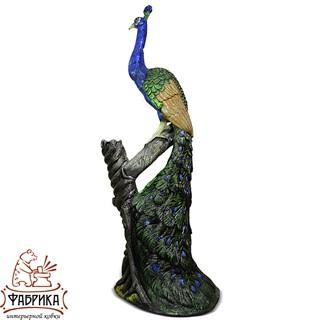 Садовая фигура из полистоуна Павлин на Дереве U07578