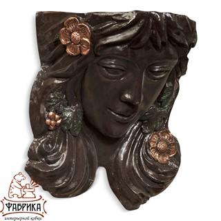 Садовый декор из полистоуна кашпо Елена бронза US07646