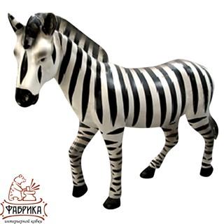 Садовая фигура из полистоуна Лошадь Зебра U07478