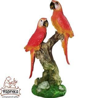 Садовая фигура из полистоуна Попугаи на Ветке F01067