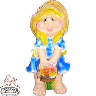 Садовая фигура из полистоуна Кукла большая F03173