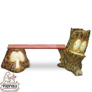 Садовая мебель из полистоуна Скамейка F07009 (F07185+F07184)
