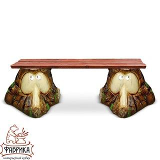 Садовая мебель из полистоуна Скамейка F07029 (F07185+F07185)