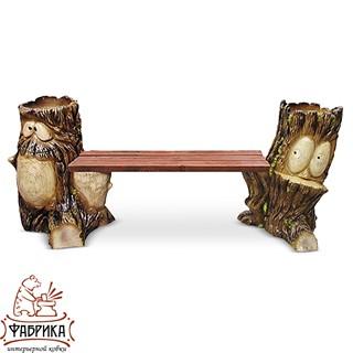 Садовая мебель из полистоуна Скамейка F07020 (F07188+F07184)