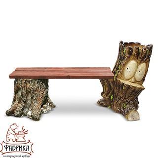 Садовая мебель из полистоуна Скамейка  F07034 (F07277+F07184)