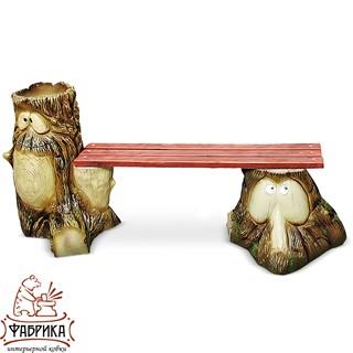Садовая мебель из полистоуна Скамейка F07008 (F07185+F07188)