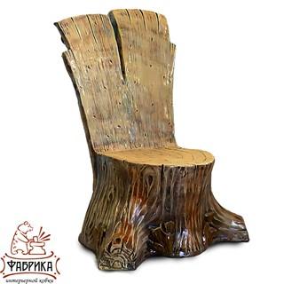 Садовая мебель из полистоуна Кресло Пень U07409