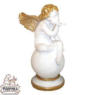 Садовый декор из полистоуна фигура Ангел Воздушный Поцелуй F03030-WG