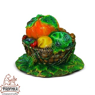Садовый декор из полистоуна Крышка септика Корзина с Овощами U07442